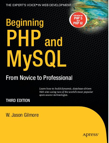 Apress Beginning PHP and MySQL