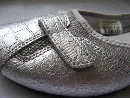 closet ballet tennis shoes silver leather size 10