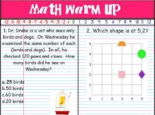 Stuff Students Say and Other Classroom Treasures: Math Warm Ups