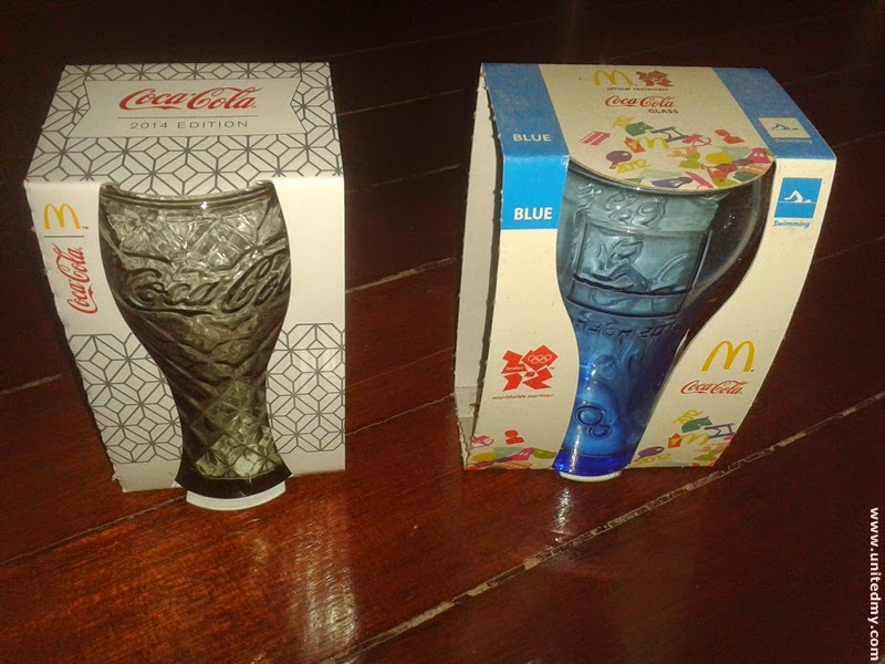 McDonald Malaysia Ramadan Coca-cola glasses 2014 and Olympic 2012