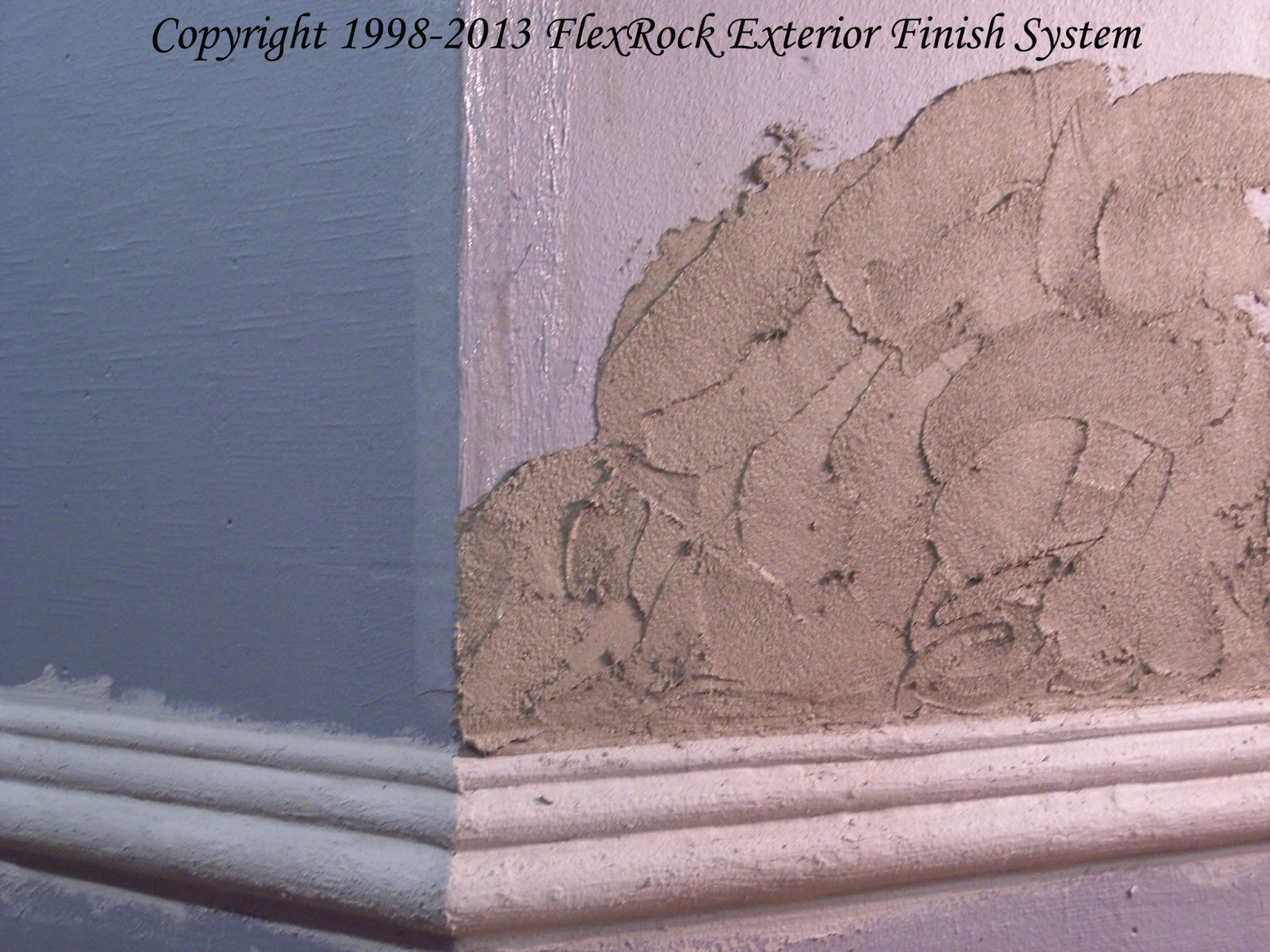 Stucco texture of the FlexRock Exterior Finish System | FlexKote ...