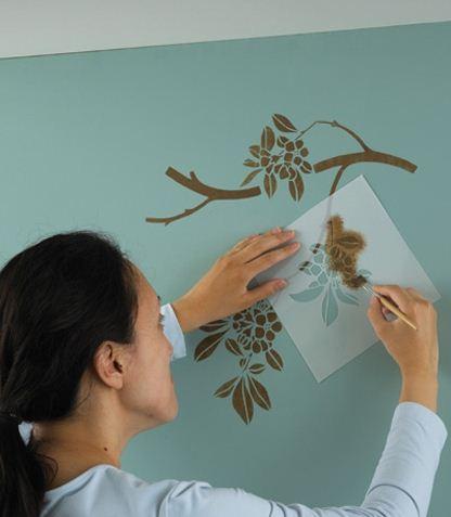 Pintar con plantillas cositasconmesh - Plantillas de decoracion ...