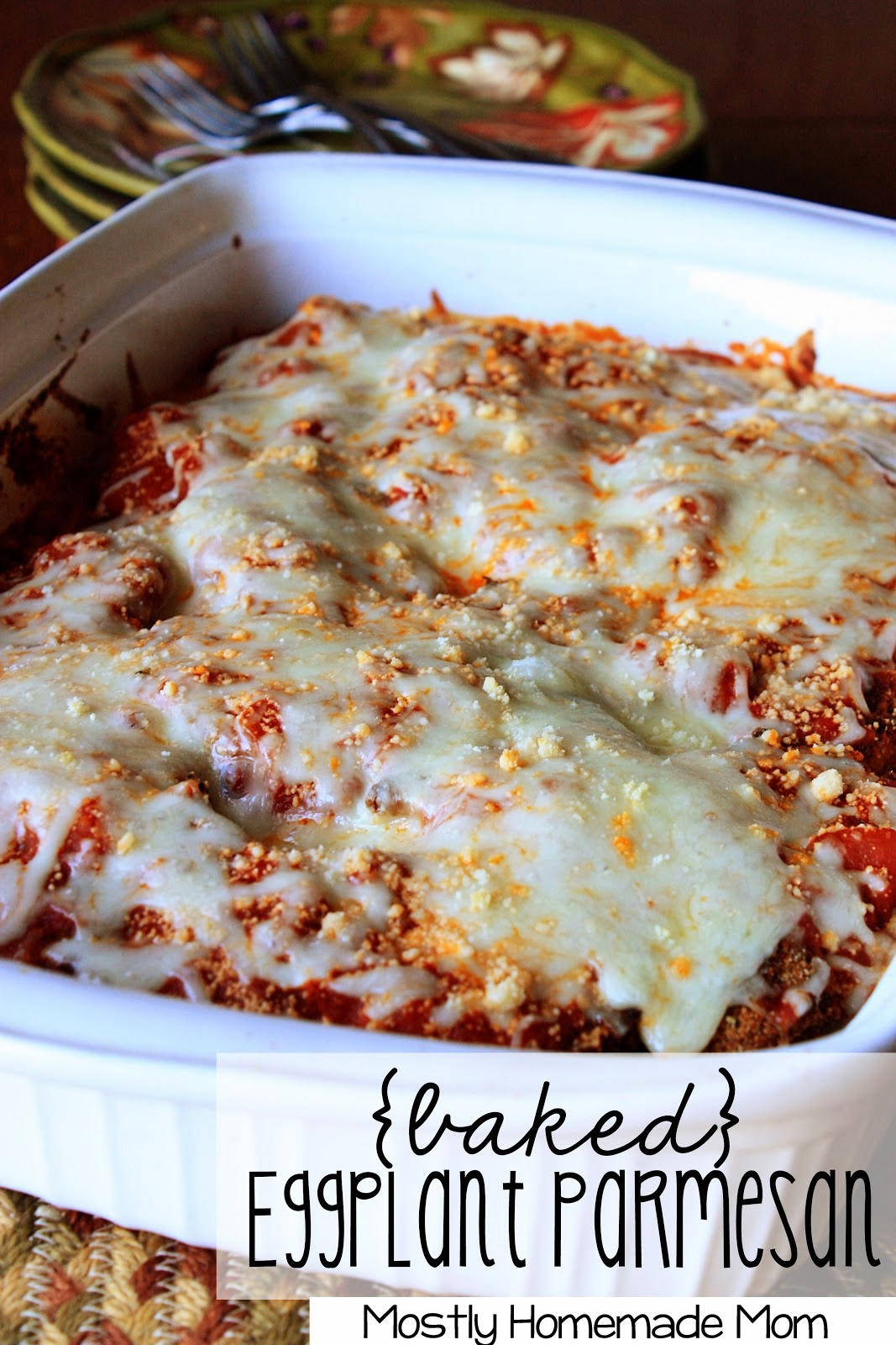 eggplant slices layered with cheese an an amazing homemade skillet ...