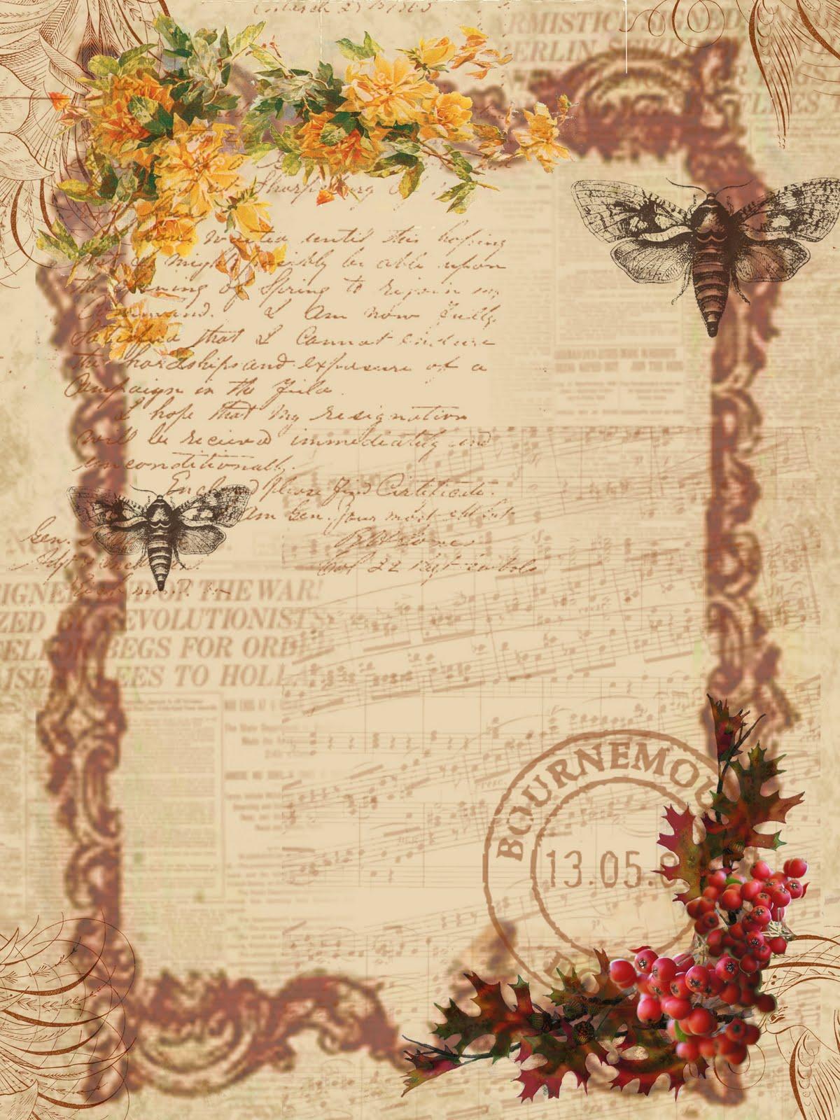 Papirolas coloridas fondos shabby chic - Antic and chic ...