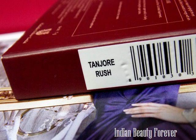 Lakme Eyeshadow Quartet Tanjore Rush Review, price, swatches