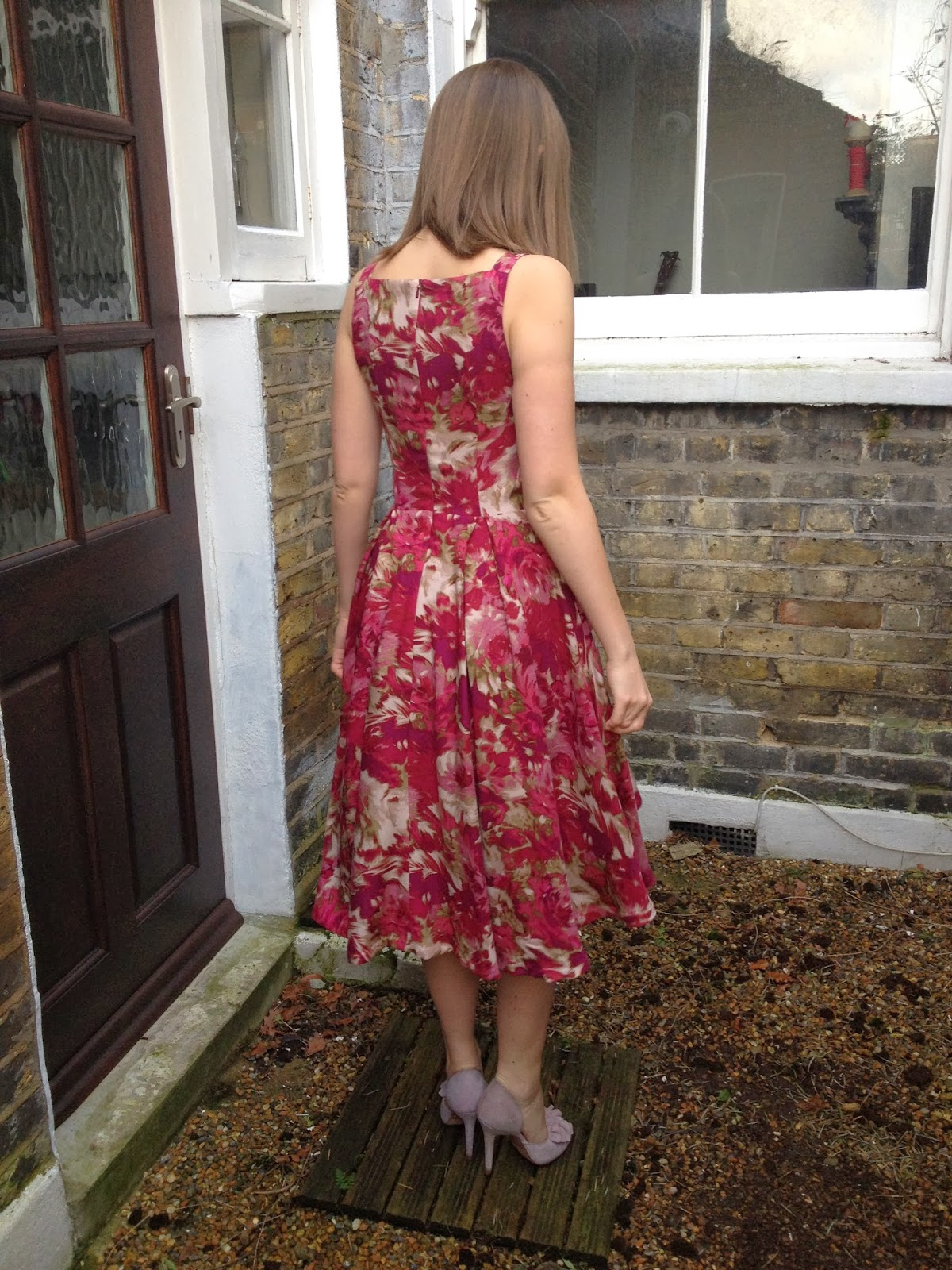 Diary of a Chainstitcher Pink John Kaldor Floral By Hand London Flora Dress Sewing Pattern