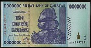 zimbabwe 10 billion note would be the world s highest denomination