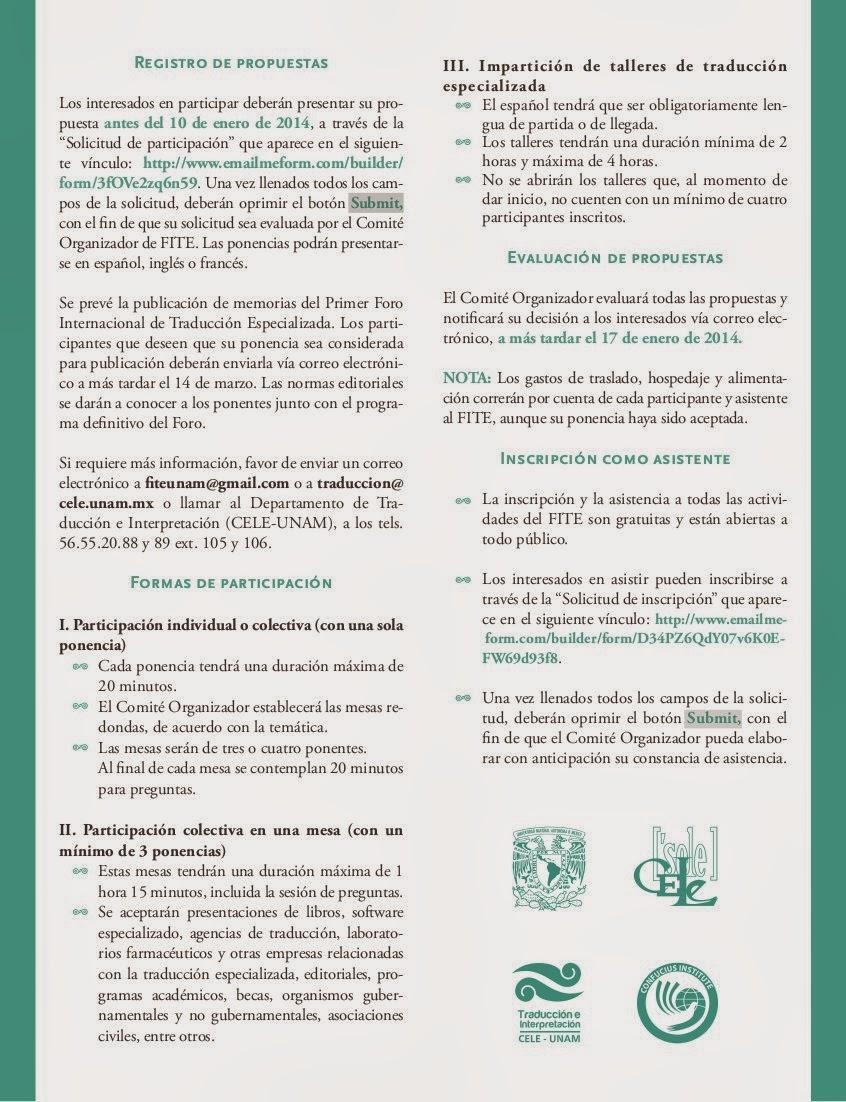 círculo de traductores: noviembre 2013