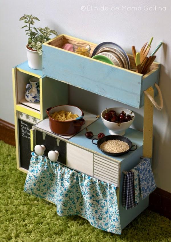 Como hacer una cocina de juguete reciclando cajas de vino for Planos para hacer una cocina de juguete