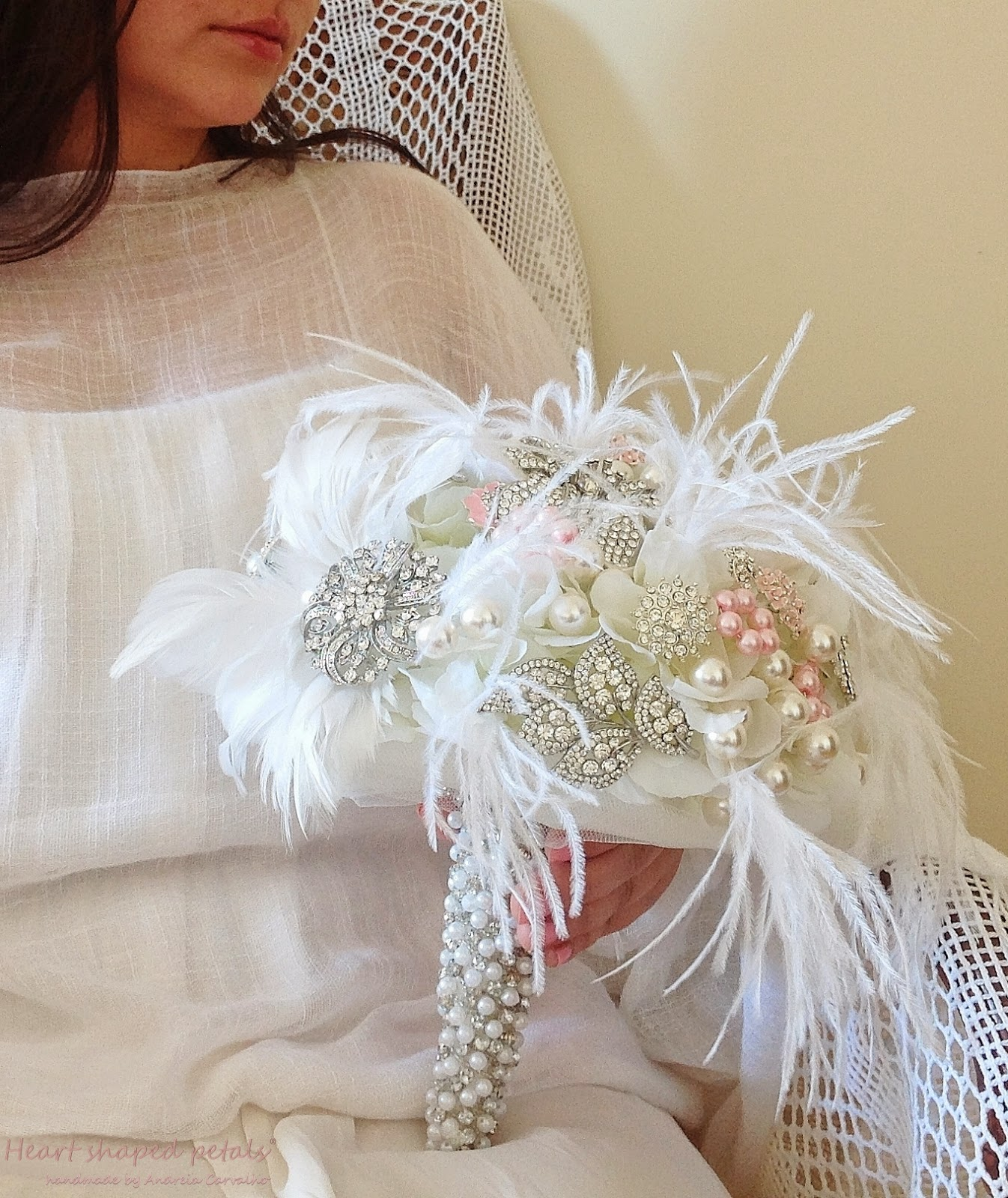 Large brooch bouquet for brides