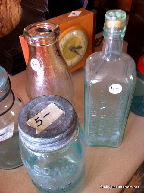 vintage aqua mason jars
