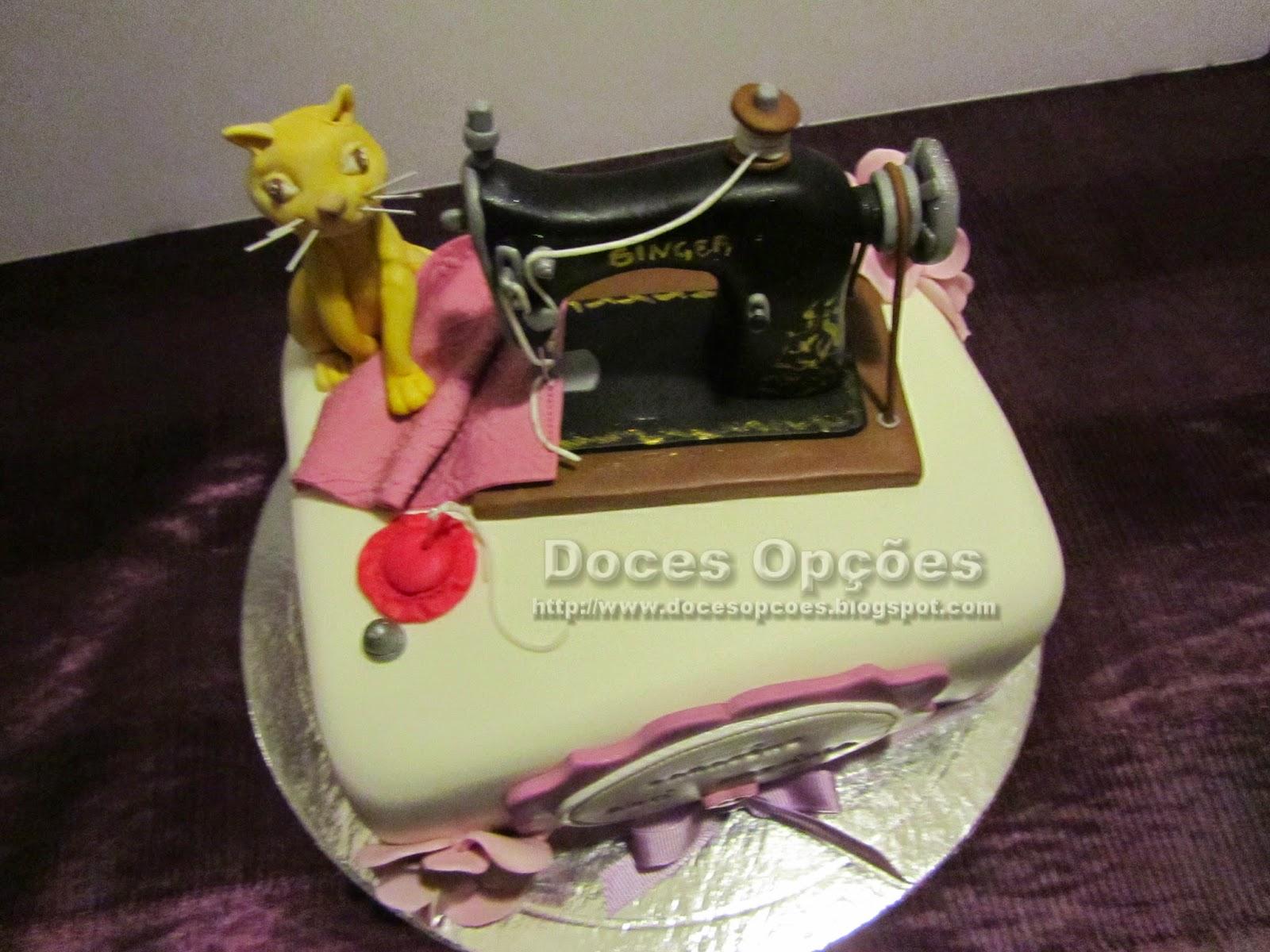 bolo aniversário máquina costura bragança