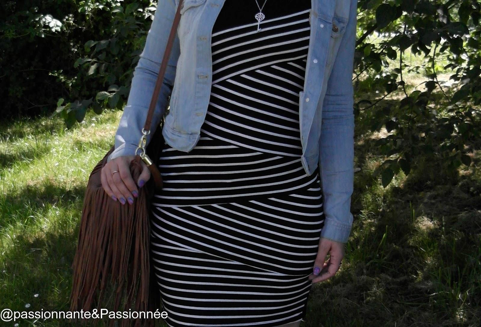 robe : Les rayures décalé