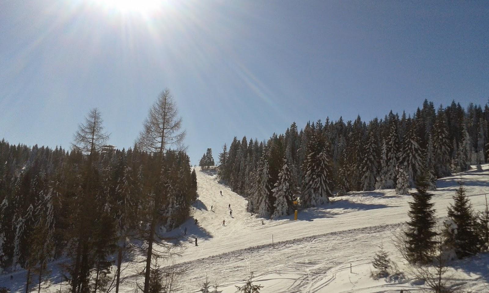 łatwa trasa narciarska do Jezierska