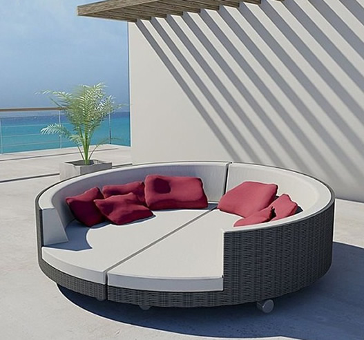 Rose wood furniture outdoor lounge beds - Chaise exterieure design ...