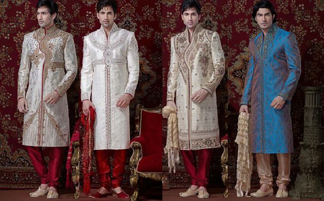 Stylish Wedding Sherwanis Collections at Moksha Fashions