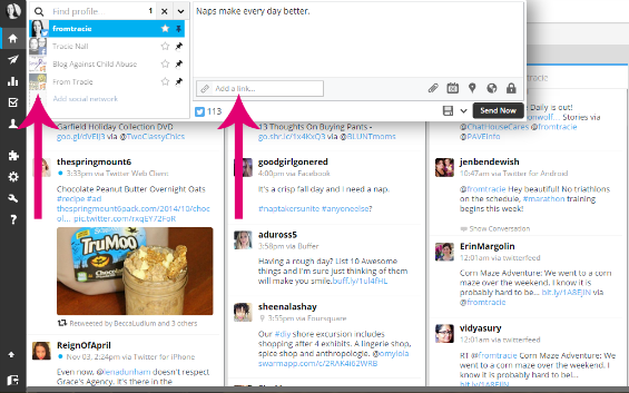 How to tweet with Hootsuite screenshot