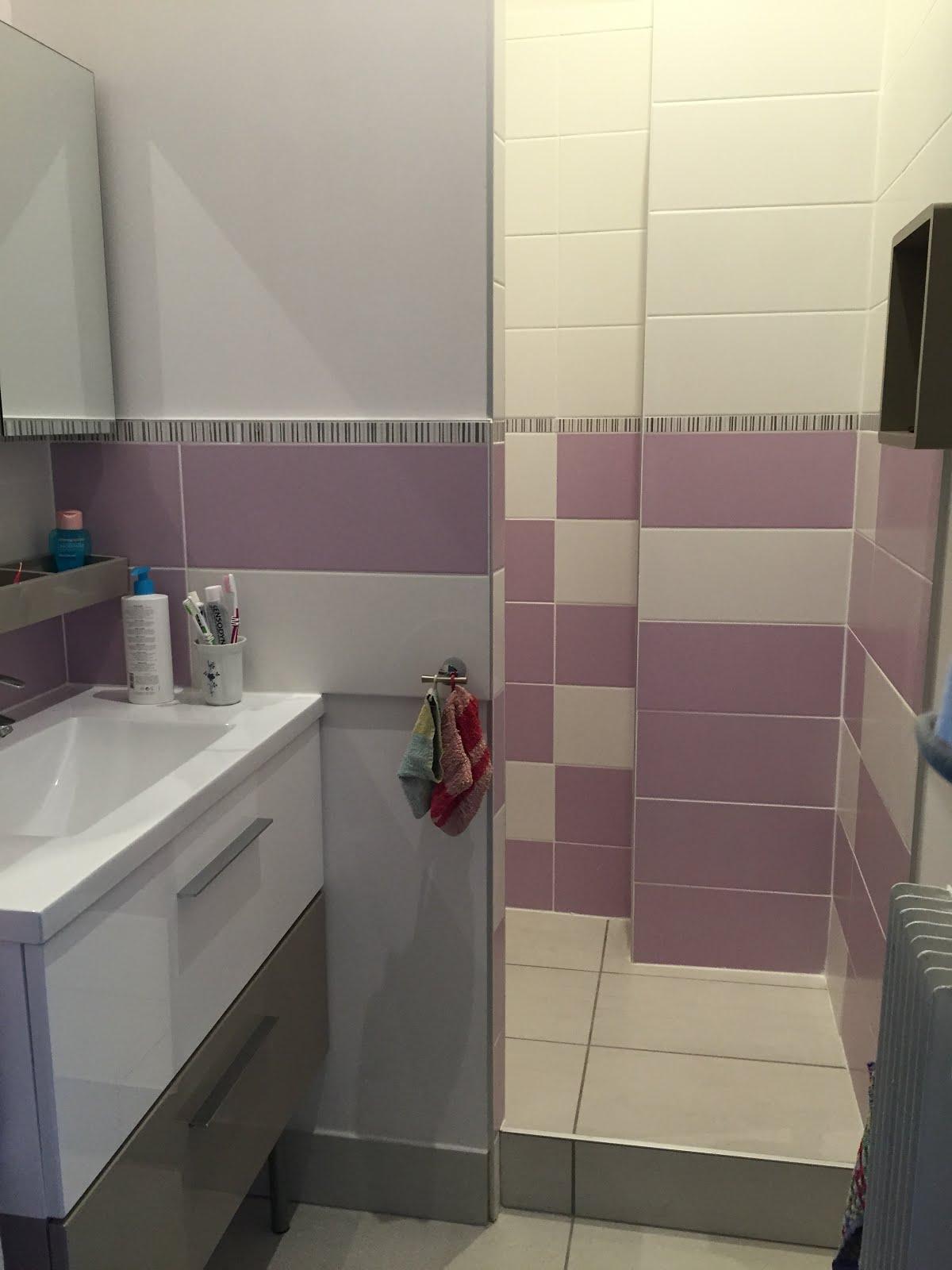 Concept carrelage cr ation salle de bain parme et blanche for Creation salle de bain