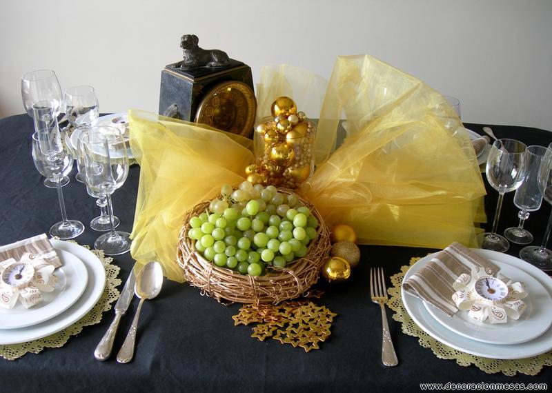 Decoracion de mesas mesa nochevieja for Mesa de fin de ano