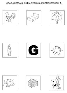 Atividades para alfabetização - Ligue a figura na letra inicial 3.