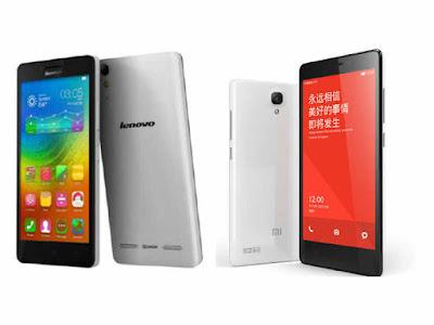Perbandingan Lenovo A6000 vs Xiaomi Redmi 2