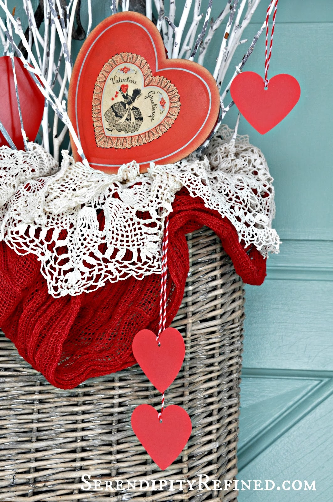 serendipity refined blog simple diy valentines day door decor