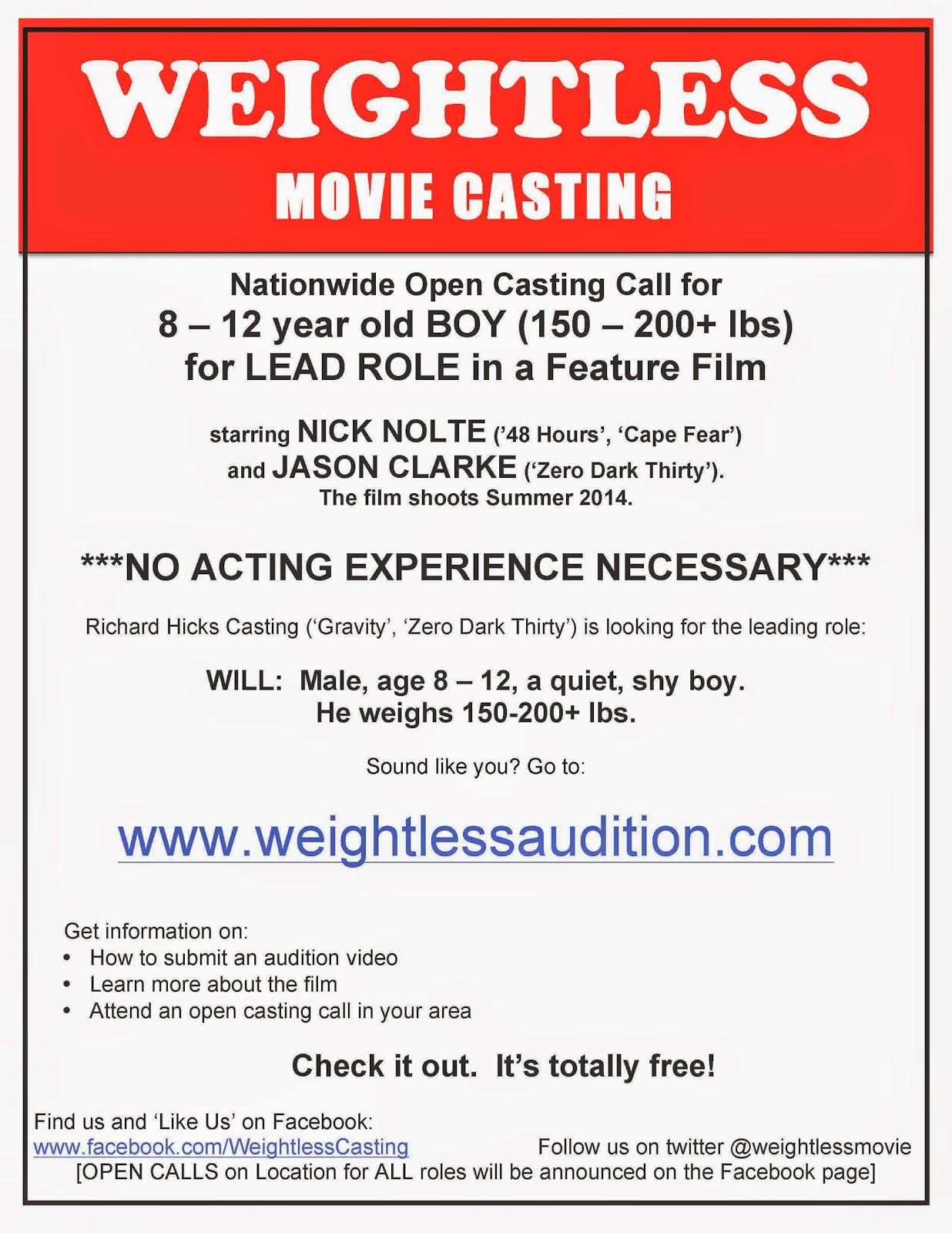 Weightless movie casting kurt kelly news weightless movie casting fandeluxe Choice Image