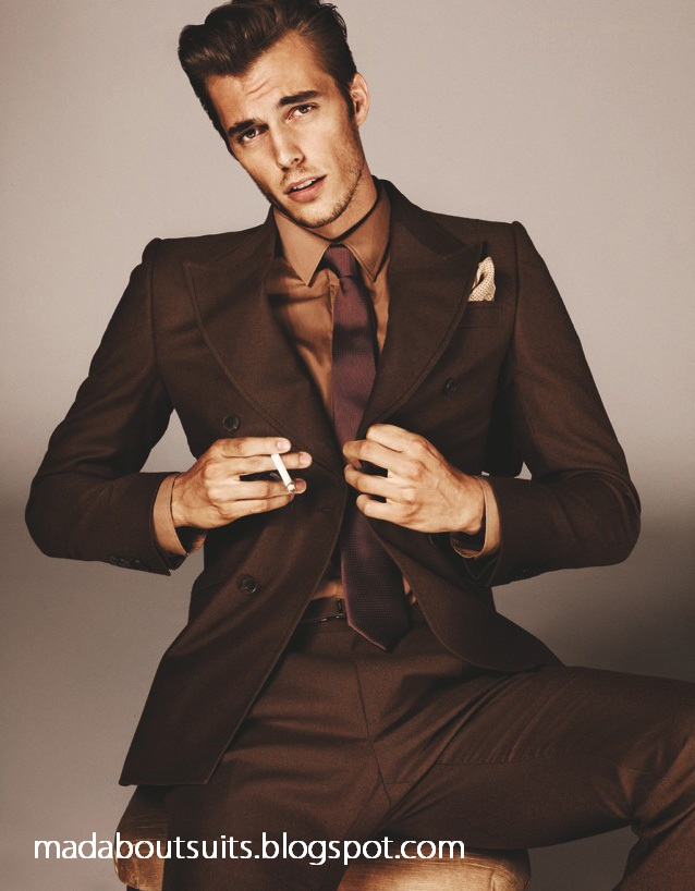 Brown Suit, Gold Shirt, Brown Tie | Mad About Suits?