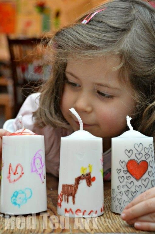 http://www.redtedart.com/2013/11/27/gifts-kids-can-make-decorated-candles/