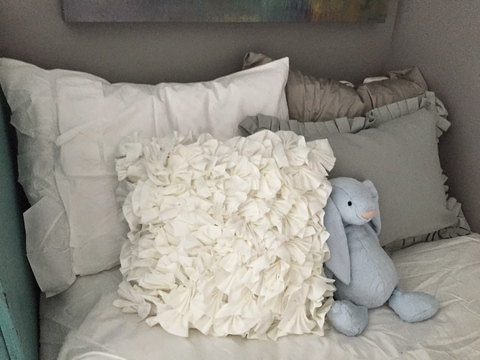 Muted Blue Throw Pillows : L s Wifey Lifey