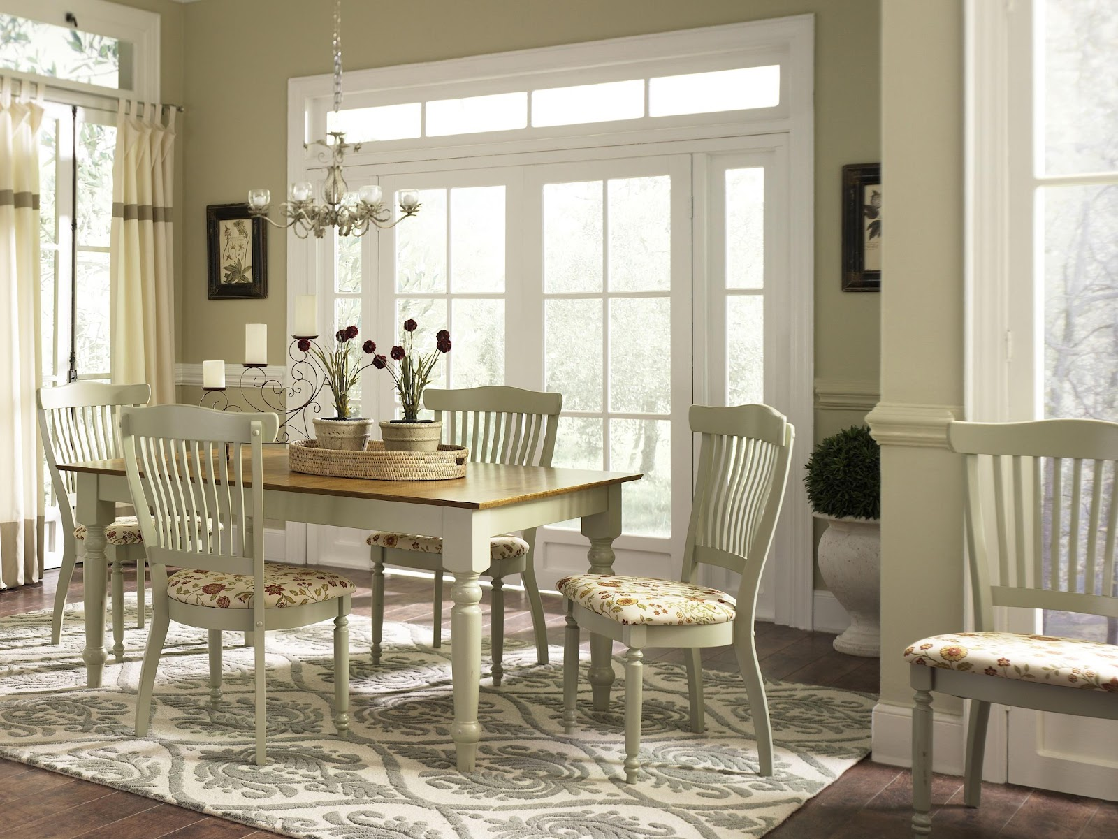 French Country Dining Room Furniture Sets French Country Dining Room Ideas With Chandelier And Wooden Table
