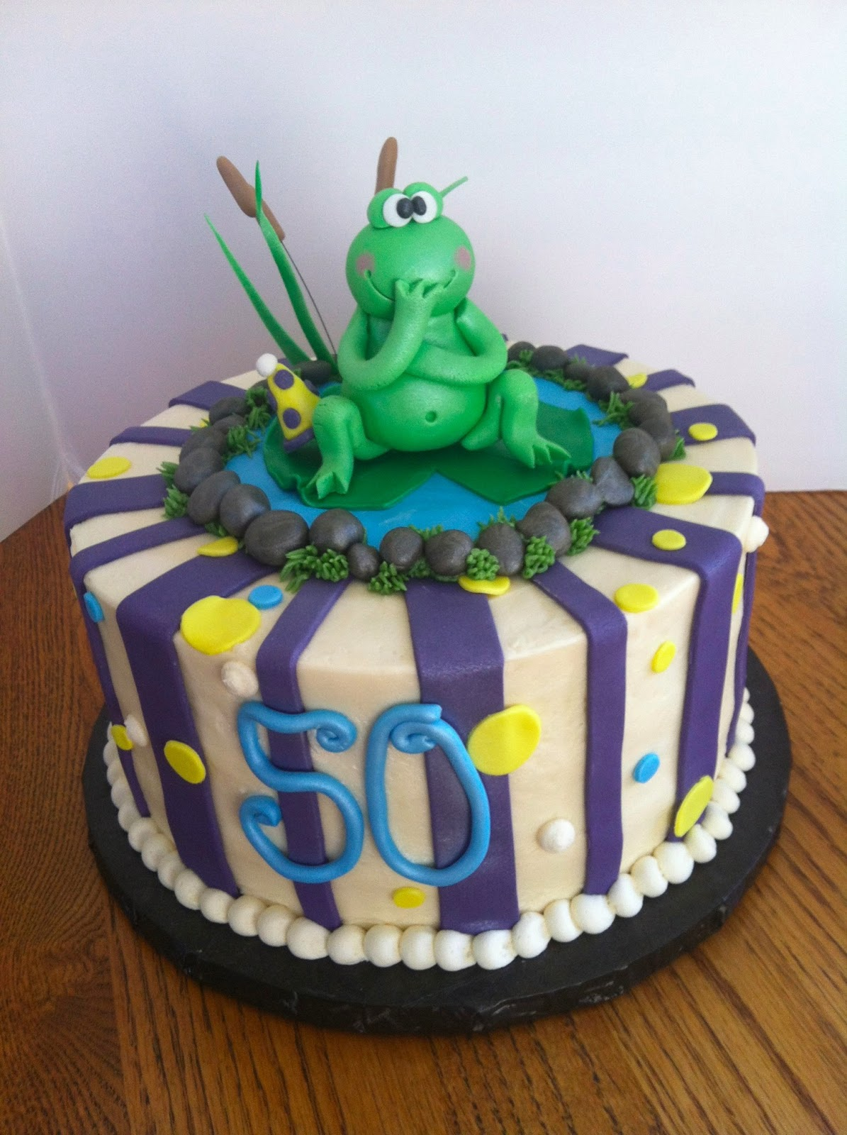 A Little Something Sweet Frog 50th Birthday Cake