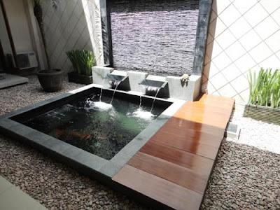 Exterior Rumah kolam minimalis