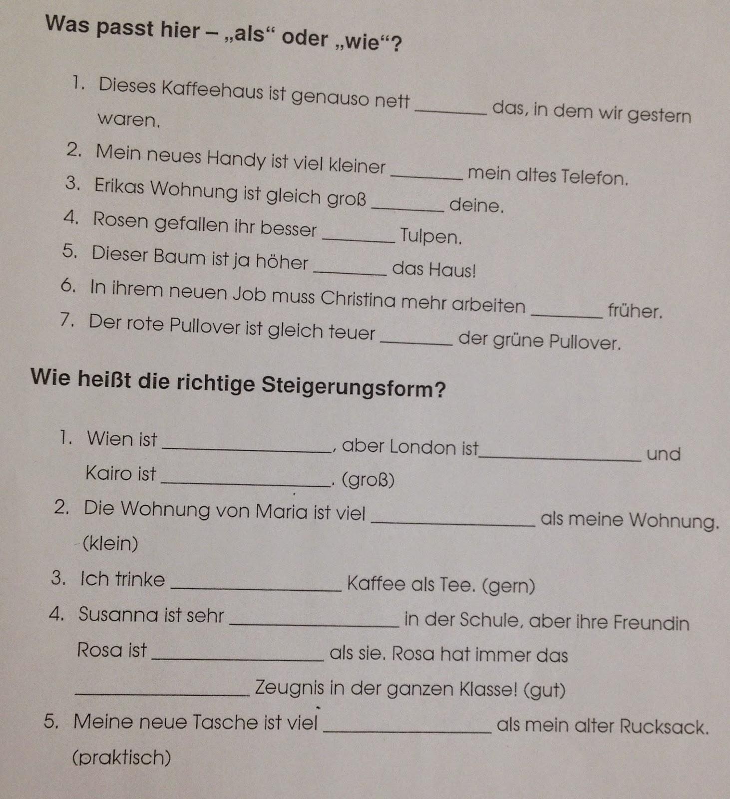 Deutsch mit Anna :): 6. Klasse: Grammatik (Adjektiv: Steigerung ...