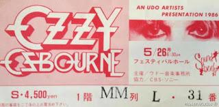 entrada de concierto de ozzy osbourne
