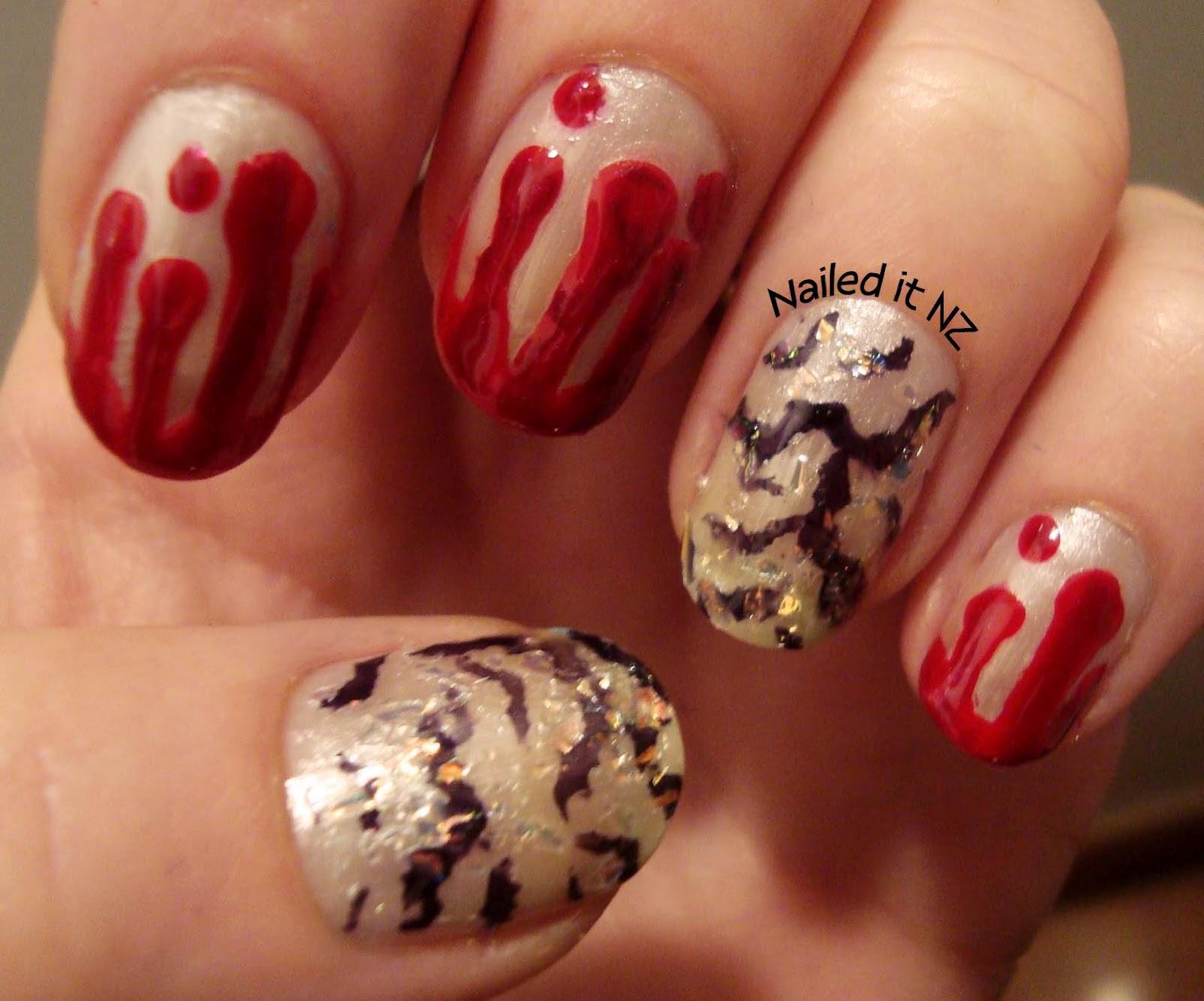 Nail Narcotics giveaway challenge - McDonalds nails + Vampire Nail art!