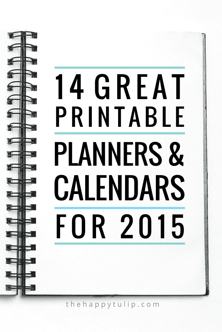 14 Great Printable Planner and Calendars for 2015 │ thehappytulip.com
