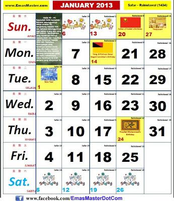 Kalender Cuti Umum Malaysia 2015