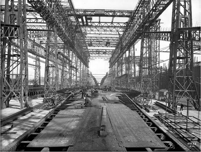 Grandes estructuras históricas en construcción Fotograf%25C3%25ADas+de+la+construcci%25C3%25B3n+del+Titanic+03