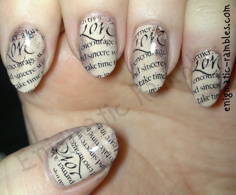 parchment-scroll-old-paper-stamped-nails-nail-art-stamping-bundle-monster-311-bm311-leighton-denny-opaque-elegance-take-a-bow-elf-eyes-lips-face-chocolate