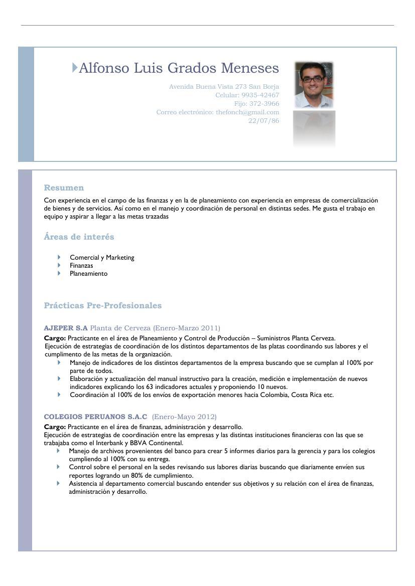 CV por logros   Liderazgo Alfonso Grados