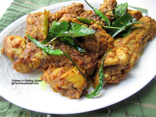"Pan Gravy Kadai Curry: Chicken In Pickling Spices ""Achari Murg"""