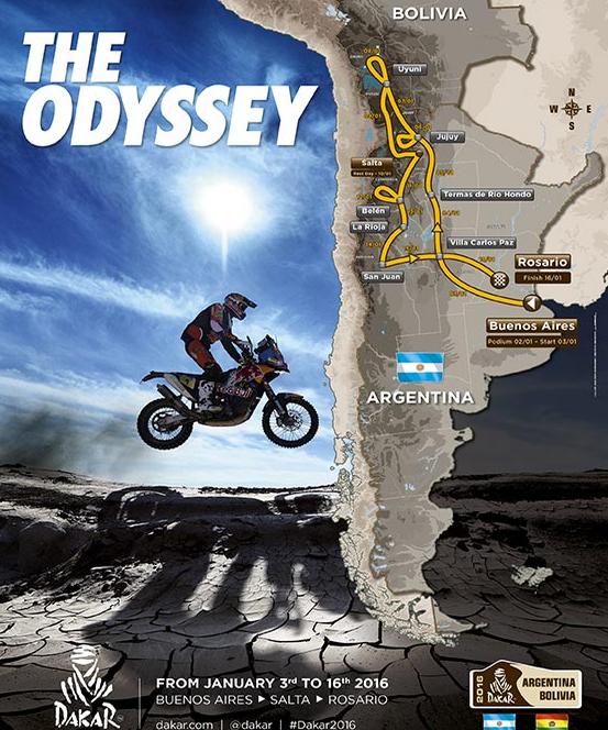 Dakar 2016 recorrido