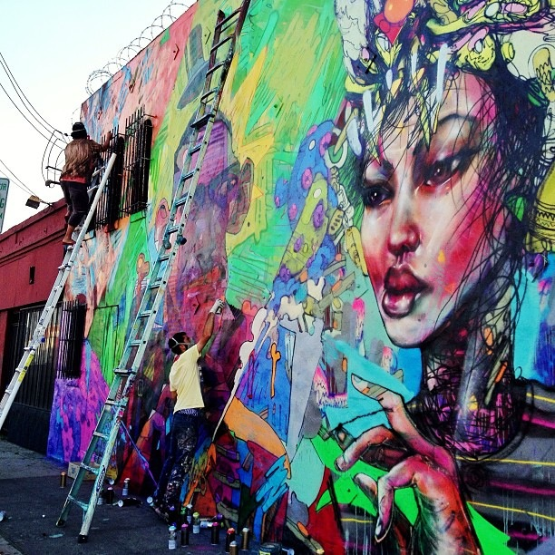 Aryz x david choe new mural in los angeles usa for David choe mural