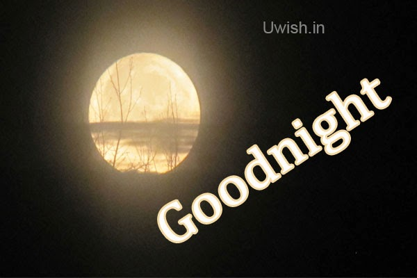 Good Night e greeting cards and wishes on a beautiful moon light.