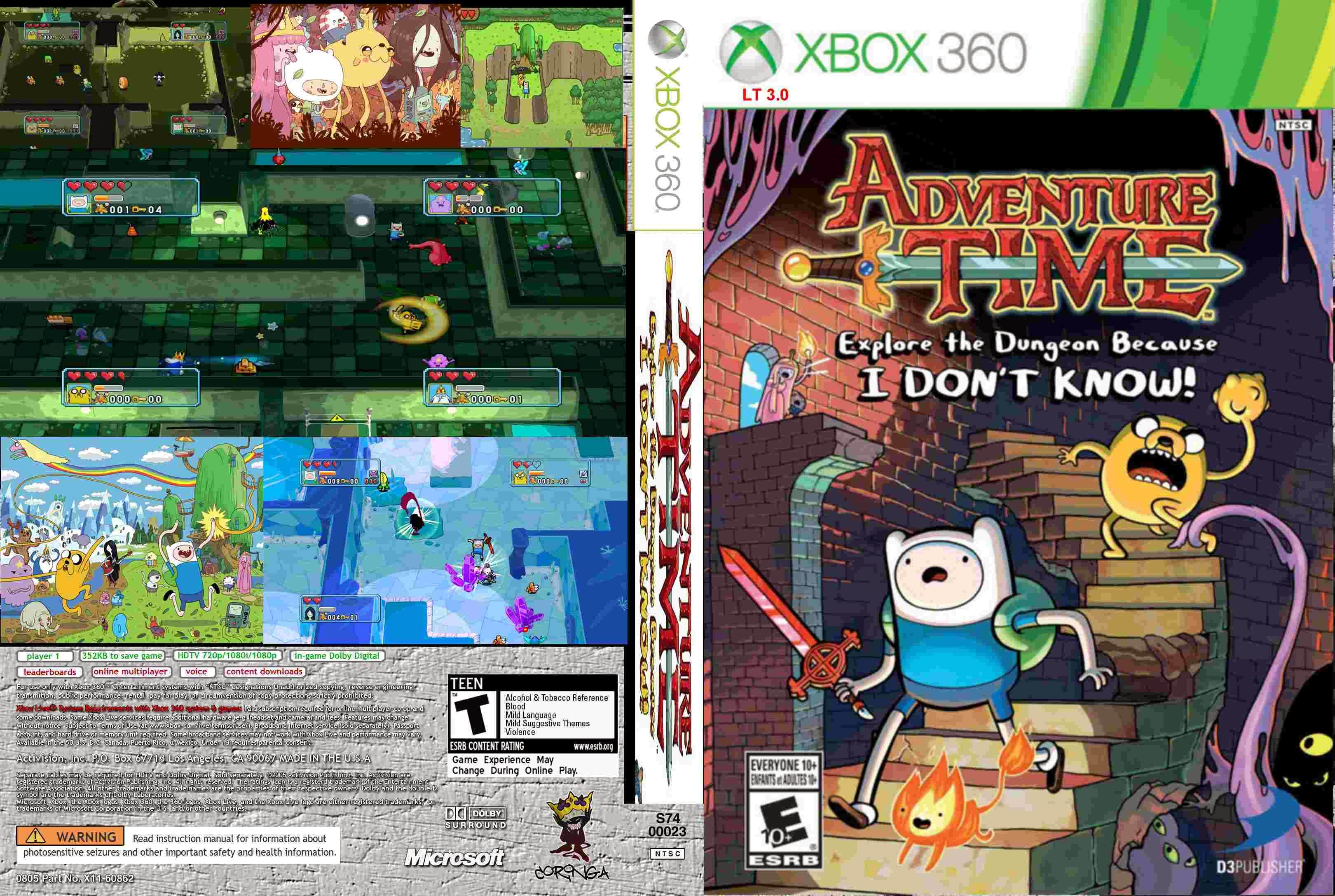 Capa Adventure Time Explore The Dungeon Because I Dont Know! Xbox 360