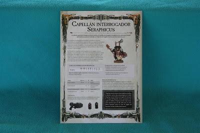Hola de características y montaje del Capellán Interrogador Seraphicus