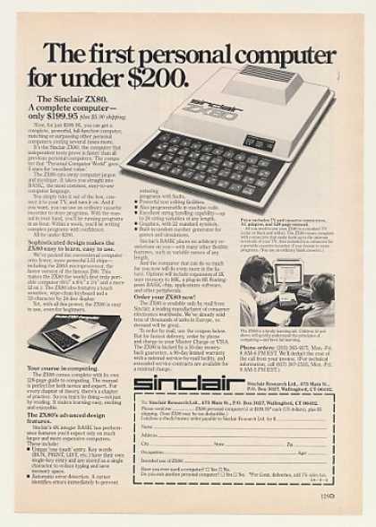 sinclair zx80 advert