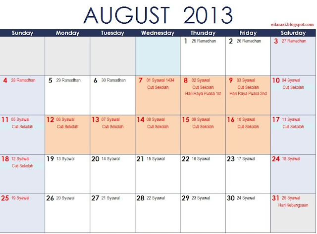 untuk perhatian, cuti umum dalam kalendar di atas lebih dirujuk