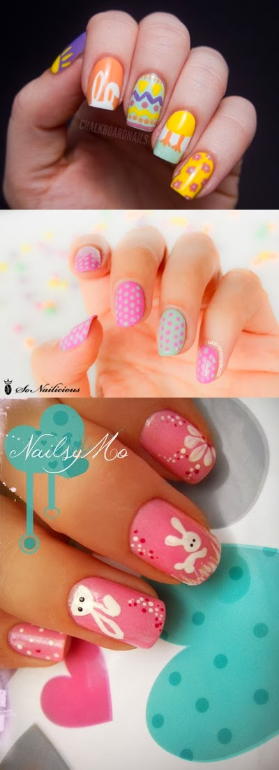 11 DIY Easter Nail Tutorials and Ideas